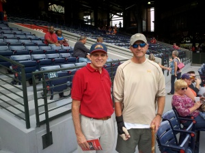 Mike and Don at Braves Game, September, 2011