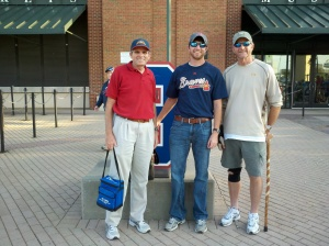 Mike, Brent, and Don at a Braves game, September, 2011