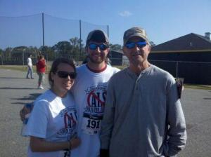 Lori, Brent, and Don at 2011 Run for Jeremy
