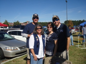 Don, Lisa, Lori, and Brent in Statesboro before Georgia Southern game