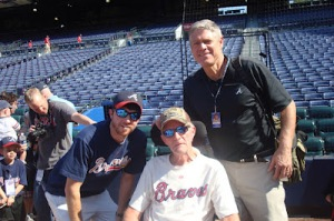 Brent, Don, and Dale Murphy at Braves Game, April, 2012