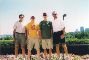 Mike, Sam, Brent, and Don in Chicago, 2002