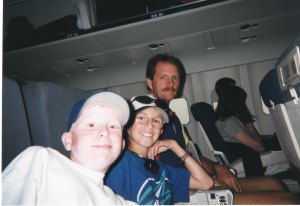 Sam, Brent and Don on the Way to Boston, 1997