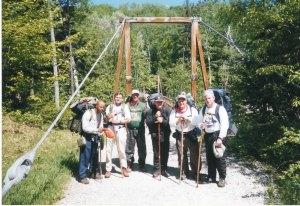 Lindsey, Don's Brother, Doc, Reg, Fitts, Alton after NH Hike, 2001