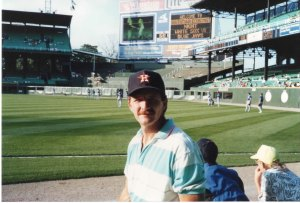 Don at Comiskey Park, Chicago, 1990
