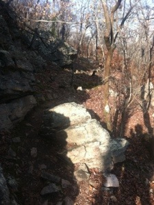 A Rocky Section of the Pine Mountain Trail